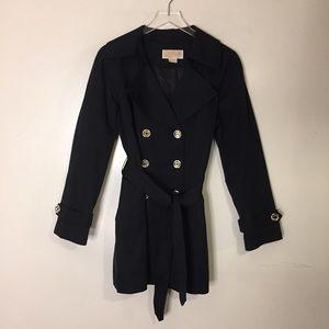Michael Kors Black Trench Coat. Size Large